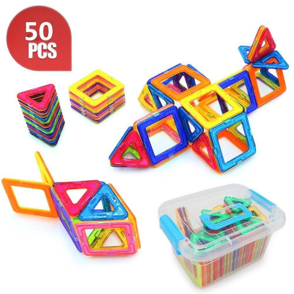【現金特価】 B06WRSZFJZsuneline磁気ブロックセット子供用磁気おもちゃConstruction Buildingタイルブロック創造性教育50-pcs B06WRSZFJZ, 笑印堂:4cf8f73a --- dou13magadan.ru