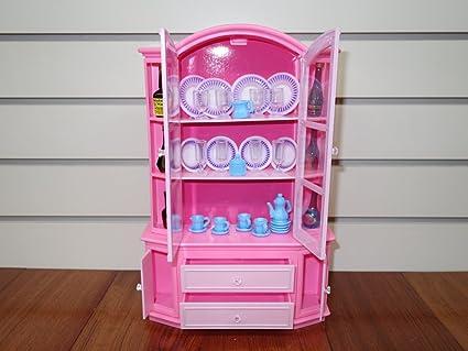 Amazon.com: Barbie Doll Size Gloria Buffet & Hutch Set: Toys & Games