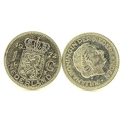 A Bijoux Manschettenknöpfe Münze Authentische Niederlande 1 Gulden