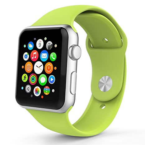 26c457db1 MoKo 3301292 Soft Silicone Replacement Sports Band for 42mm Apple Watch ( Green): Amazon.in: Computers & Accessories