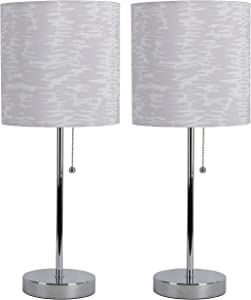 Decor Therapy MP1244 Stick Table Lamps, Chrome