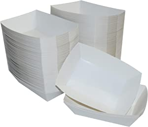 JA Kitchens White Paper Food Tray - 2.5 lb Capacity - 250 Count