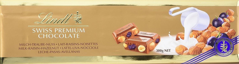 Lindt Gama Oro Tableta de Chocolate con Leche con Avellanas Y Pasas Enteras - 2 Paquetes de 300 gr - Total: 600 gr: Amazon.es: Alimentación y bebidas
