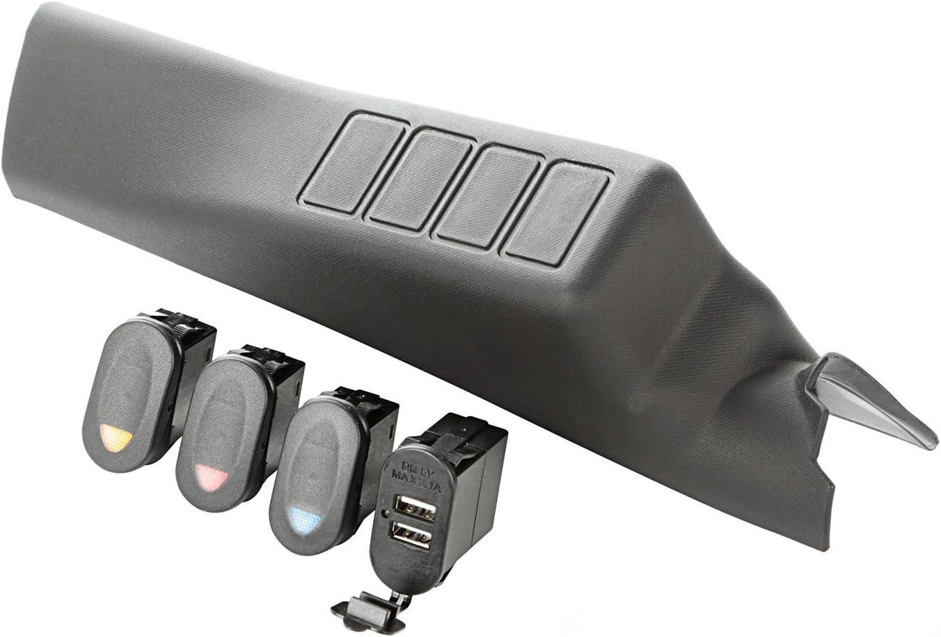 3 Switch Rugged Ridge 17235.98 A-Pillar Pod Kit