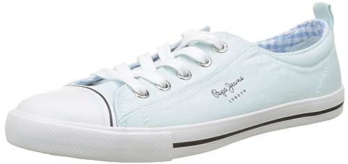 Pepe Jeans London Gery Bass, Zapatillas Para Mujer, Azul (Sky), 41 EU