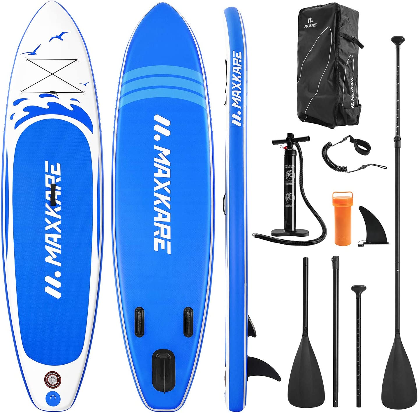 """MaxKare 10'× 30″ ×6"""" Inche Stand Up Paddle Board Inflatable SUP With Stand-up Paddle Board"""