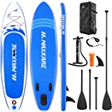 MaxKare Stand Up Paddle Board Inflatable SUP W Stand-up Paddle Board Accessories Backpack Paddle Leash Pump Non-Slip Deck