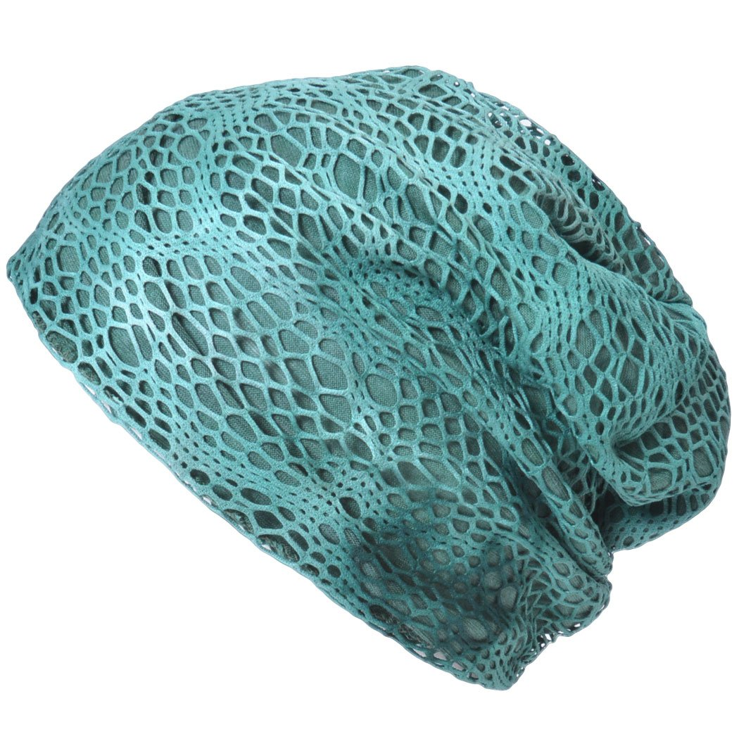 Casualbox Womens Hand Dyed Gauze Summer Beanie Hat Cooling Cute Unique Ladies Fashion
