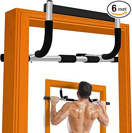 Chin up Pull Up Bar Doorway Workout Exercise Fitness Training Home Gym Equipment
