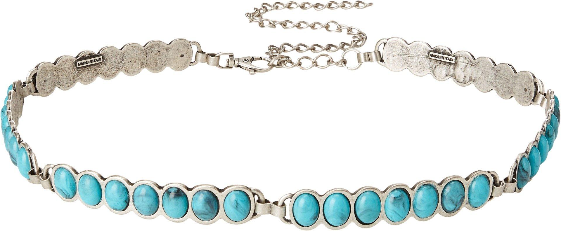 Amsterdam Heritage Women's 15503 Silver/Turquoise Belt