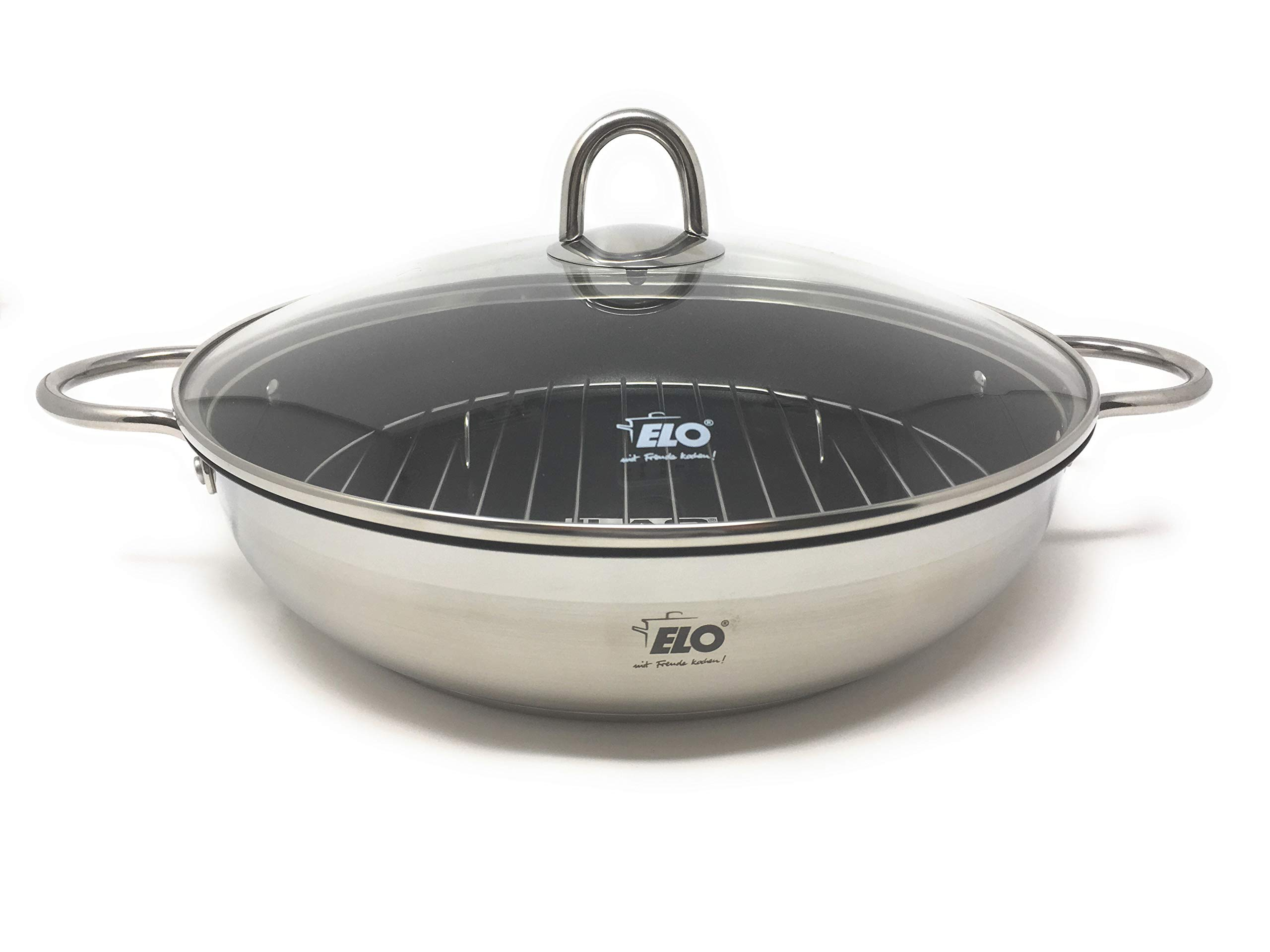 ELO Germany Platin Stainless Steel Induction Roasting Pan with Grill Insert