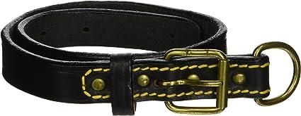 Black 43 1//4-Inch Petego La Cinopelca Tubular Calfskin Dog Leash