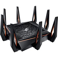 Asus ROG Rapture GT-AX11000 AX11000 Tri-Band 10 Gigabit WiFi Router, Aiprotection Lifetime Security by Trend Micro…
