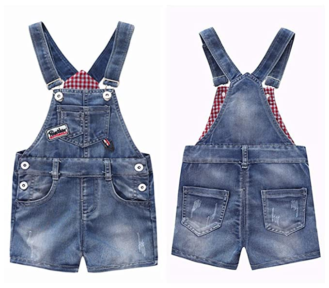 326184e3108d Amazon.com  Adam Woolf 9M-4T Baby Summer Jeans Overalls Infant Shorts  Toddlers Kids Denim Rompers Baby Boys Girls  Clothing