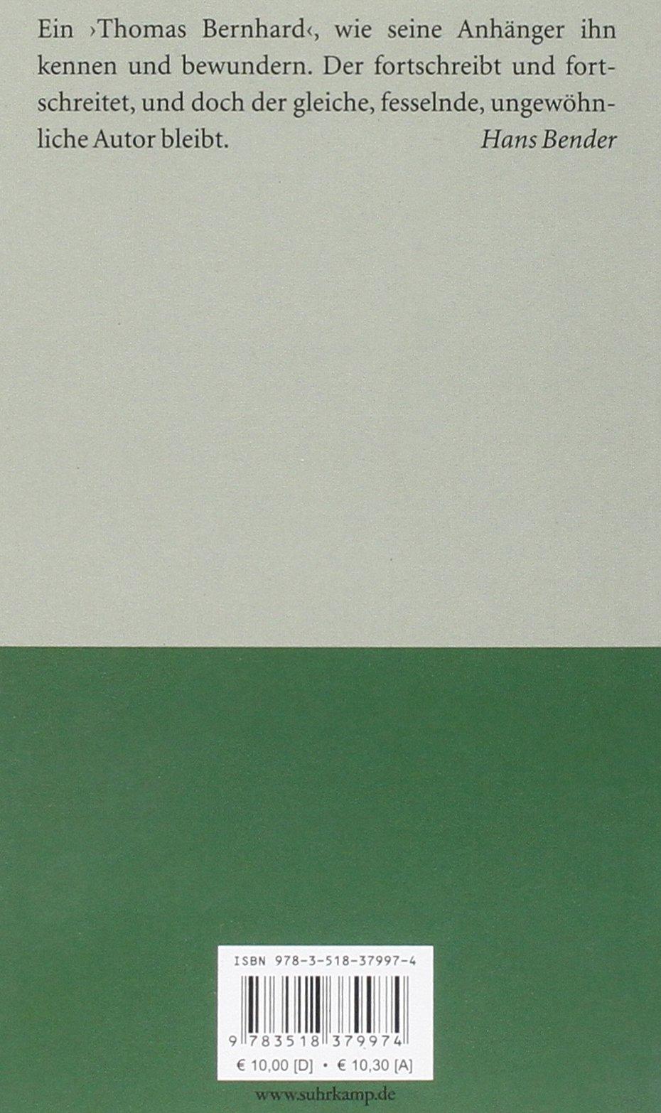 Der untergeher thomas bernhard 9783518379974 amazon books fandeluxe Gallery