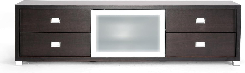 Baxton Studio Botticelli marrón Moderno Soporte de TV con Puerta de Cristal Esmerilado: Amazon.es: Hogar