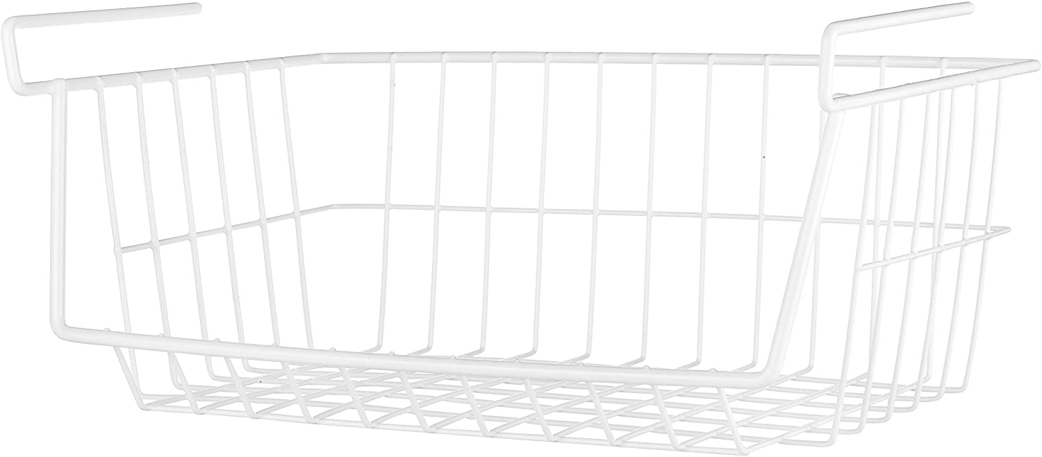 Whitmor White Wire Shelf Basket