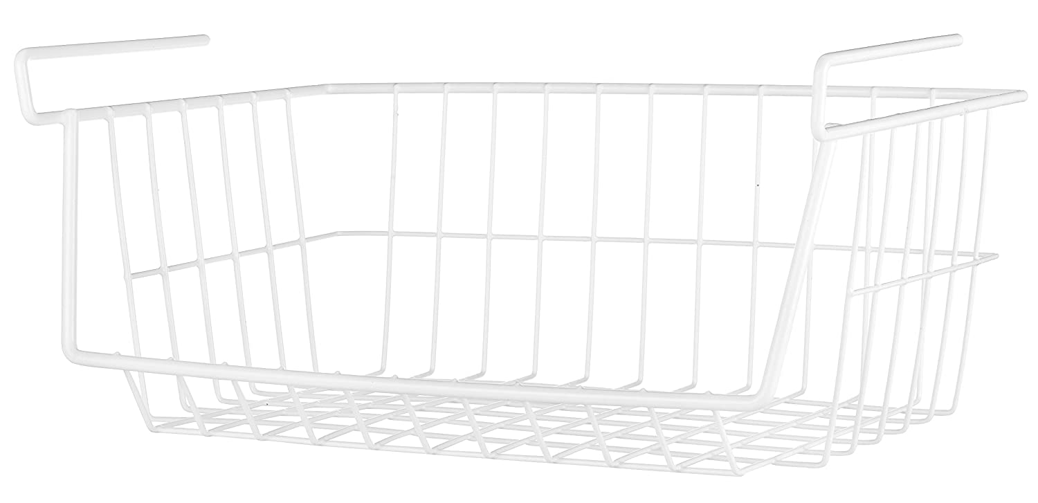 Whitmor White Wire Under Shelf Basket 6023-4212