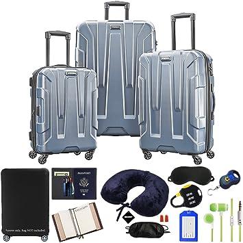 90e59f0eb Amazon.com | Samsonite Centric 3-Piece Nested Luggage Set, Blue Slate with  Accessory Kit | Luggage Sets