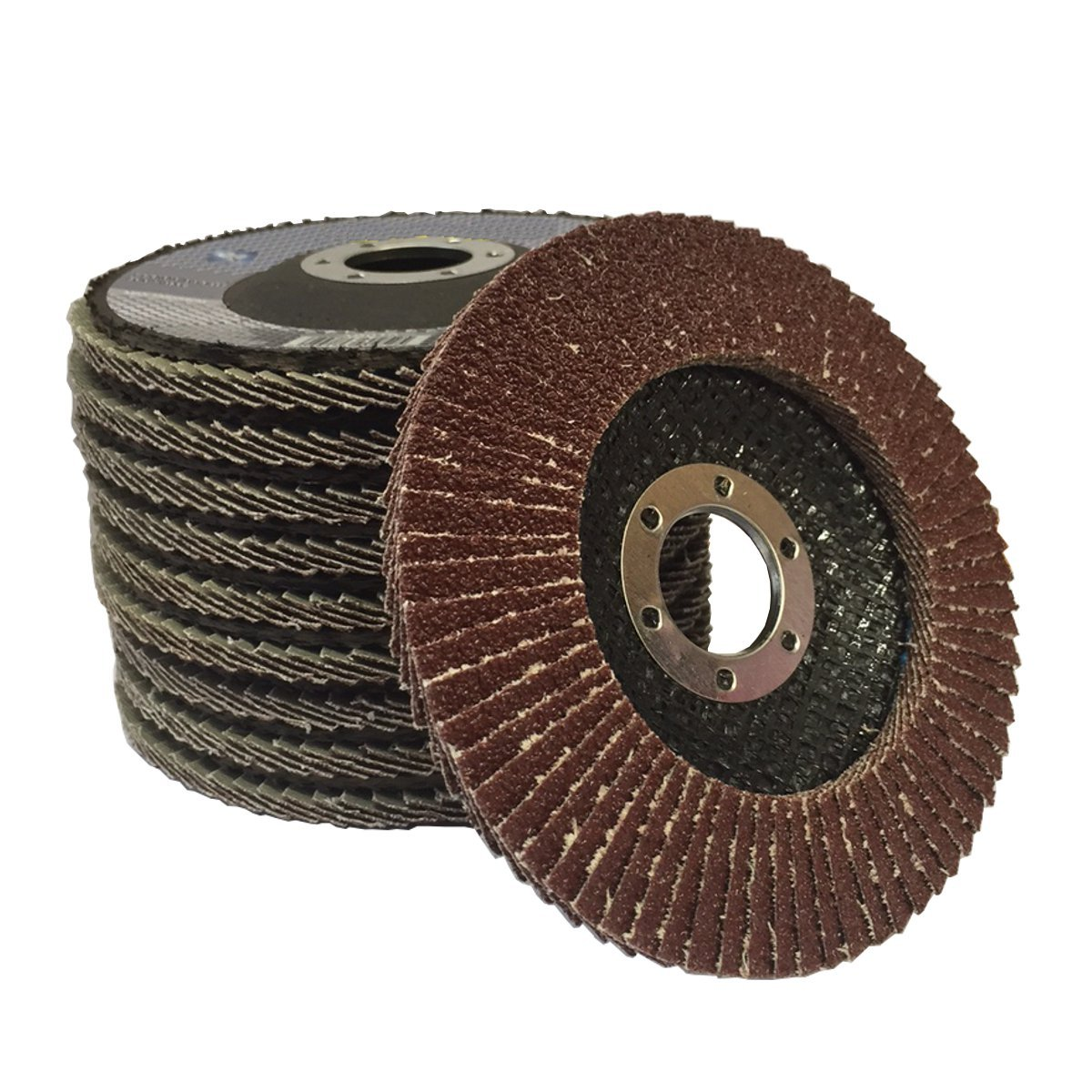 (PACK OF 5) Aluminium Oxide 40G (Coarse) Flap Discs for angle 115mm (4.5') Angle grinders TZ