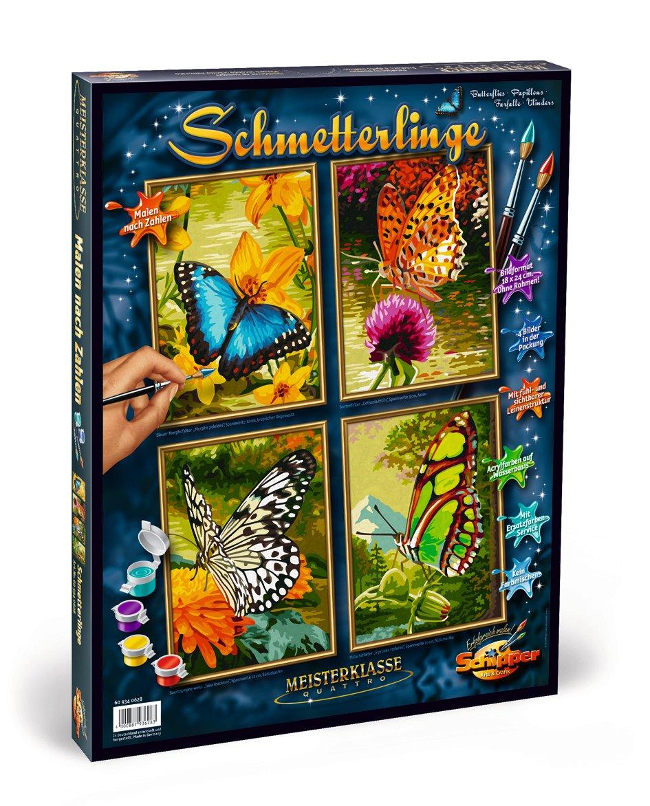 Schipper 609340628 - Malen nach Zahlen - Schmetterlinge (Quattro) je ...