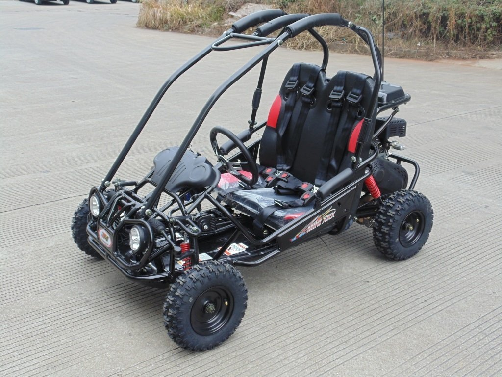 Amazon.com: TRAILMASTER XRX-R MINI KIDS GO KART with REVERSE- BLACK ...