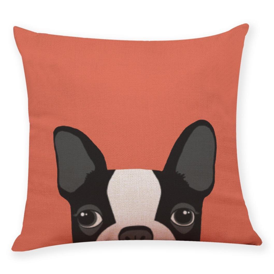 futemo大人用Multicolourキュート動物ホーム装飾クッションカバーかわいい犬ヘッドスロー枕カバー枕カバー車リビングルームFestival 18