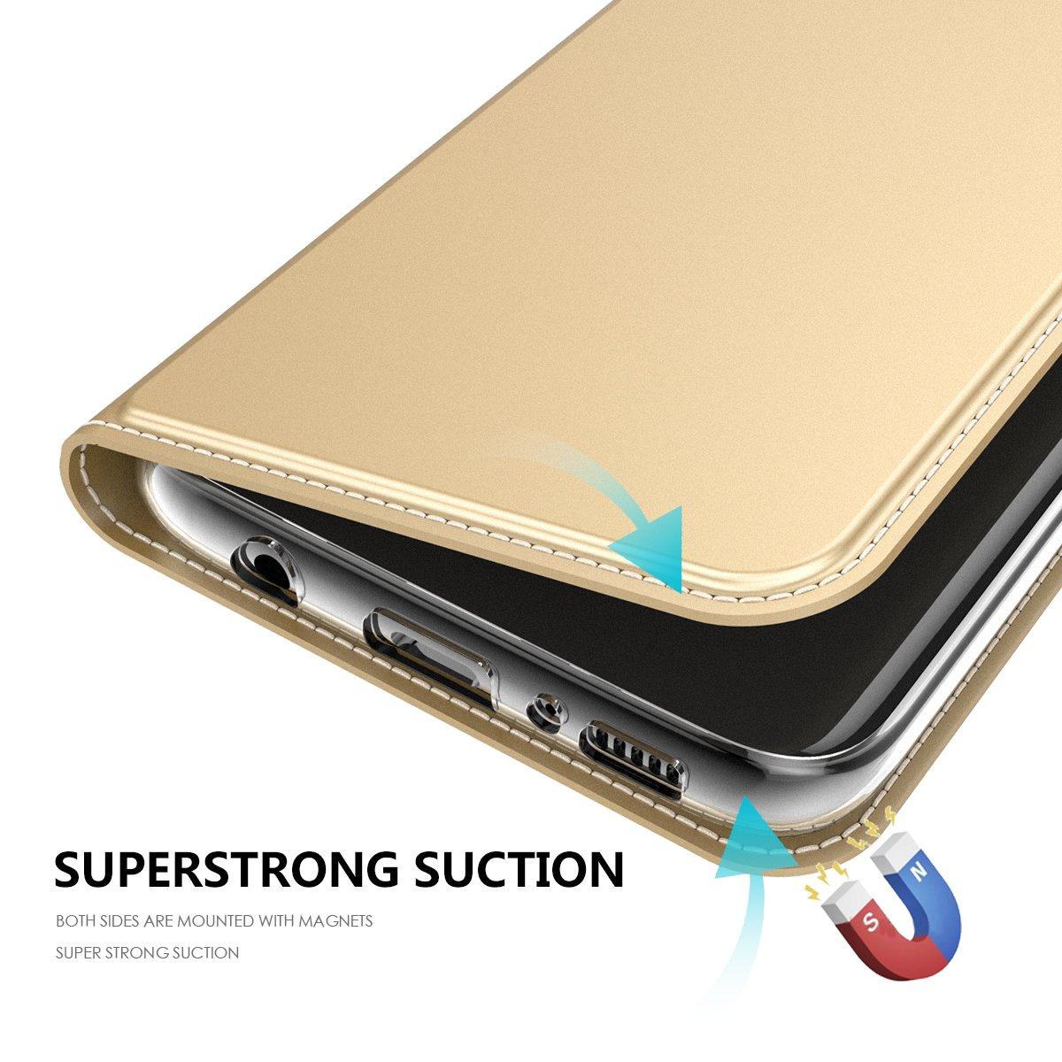 Negro Caja Magn/ética Cierre Caja Protecci/ón Completa para Samsung Galaxy S8 Portatarjetas Happon Funda Samsung Galaxy S8 Soporte Funciones Funda de Piel