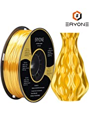 PLA Filament 1.75mmm, Silk Gold PLA, ERYONE Silk PLA, 3D Printing Filament PLA for 3D Printer and 3D Pen, 1kg 1spool