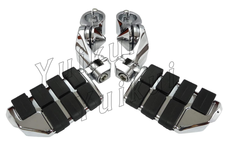 YUIKUI RACING オートバイ汎用 1-1/4インチ/32mmエンジンガードのパイプ径に対応 ハイウェイフットペグ タンデムペグ ステップ HONDA SHADOW VT 700 All years等適用   B07PWPBKK7