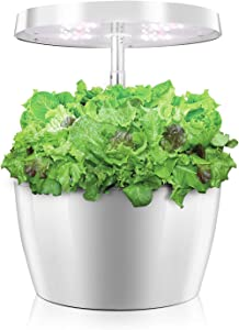 Hydroponics Growing System, Mini Indoor Herb Garden with Automatic Timer, Height Adjustable, Hydroponic Starter Kit, Smart Garden Planter for Home Kitchen, 4 Pods