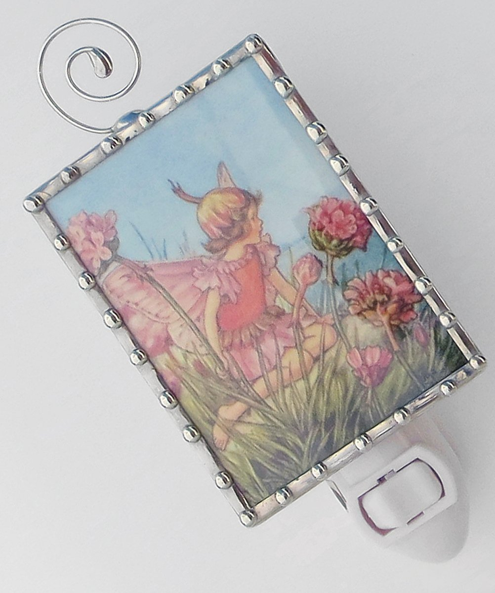 B0160NE50Q Little Pink Flower Fairy Nursery Night Light 71zLa2AP4yL
