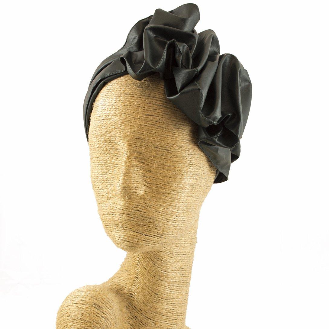 Fascinator, Leather Headband, Milliner, Worldwide Free Shipment, Delivery in 2 Days, Customized Tailoring, Designer Fashion, Party Hat, Derby Hats, Hair braid Headbands, Dark Green