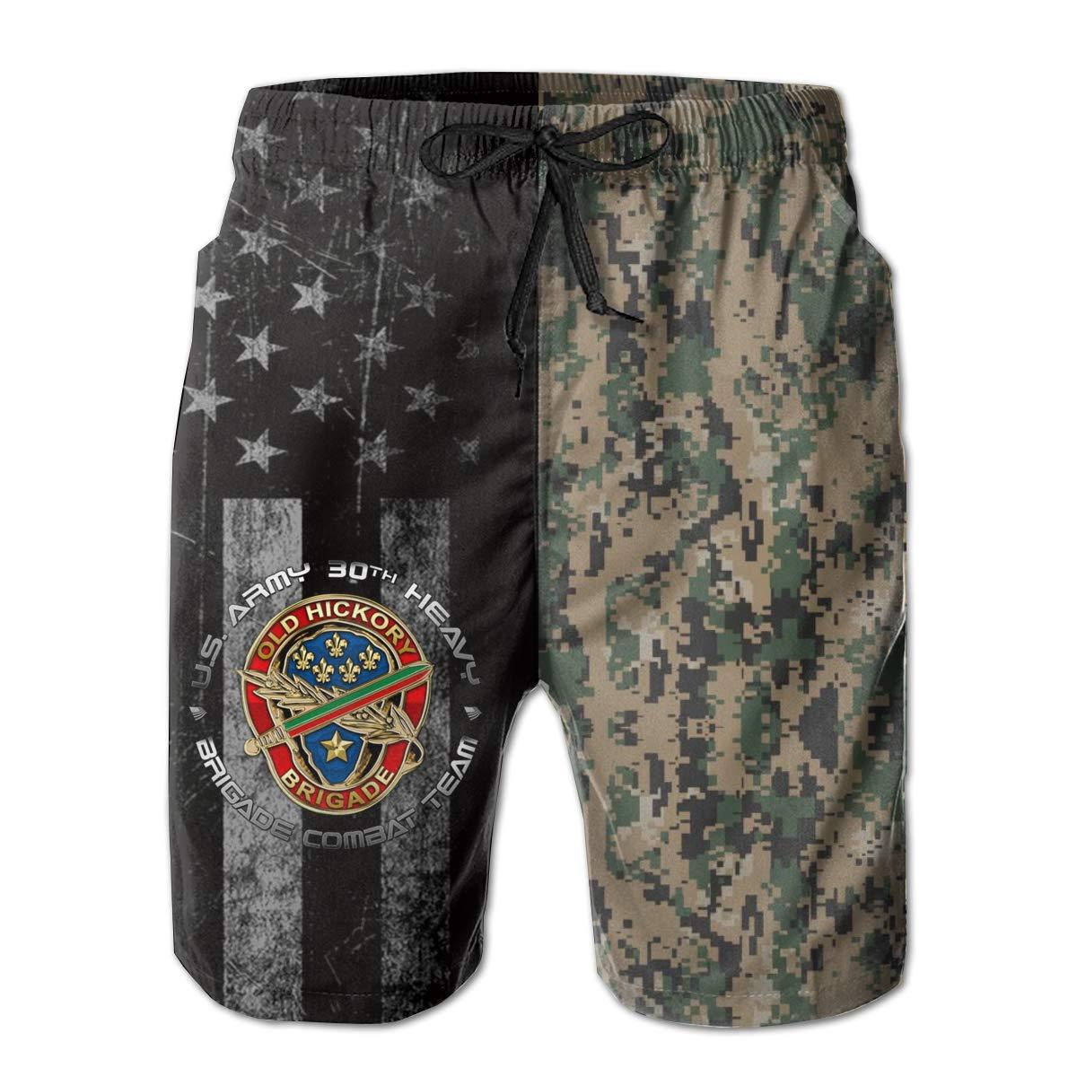 30th Infantry Brigade DUI Mens Swim Trunks Beach Short Board Shorts
