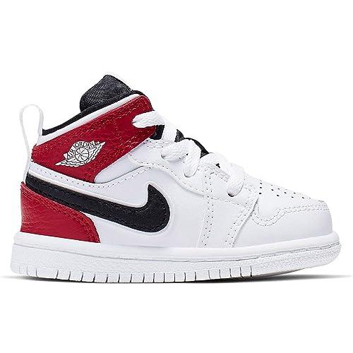 8bfc9347a4fa7 Amazon.com | Jordan 640735-116: Toddler's 1 Mid White/Black/Gym Red ...