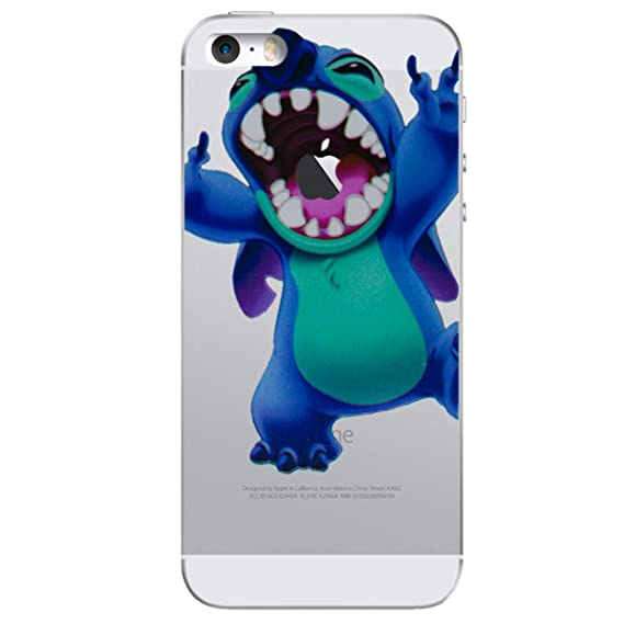 online retailer a6e9b e47e4 iPhone 5/5s Stitch Silicone Phone Case / Gel Cover for Apple iPhone 5s 5 SE  / Screen Protector & Cloth / iCHOOSE / Chomp