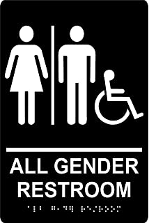 all gender restroom sign 6x 9 tactile wall sign grade ii - All Gender Bathroom Sign