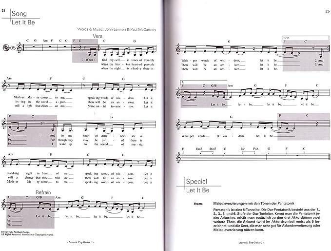 Acoustic Pop Guitar bande 2 avec CD - INTRODUCTION dans le monde du style de doigts de Michael longue - Akkorde élargie, Ghost Notes et dautres techniques - avec cœur Note colorée