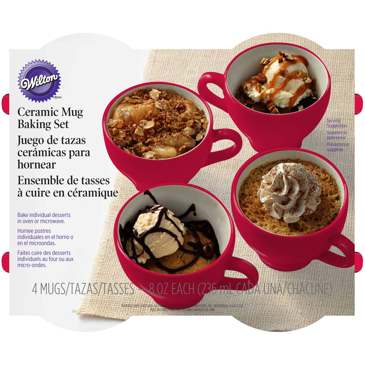 Wilton Wilton 4-Piece Mug Cakes Baking Set