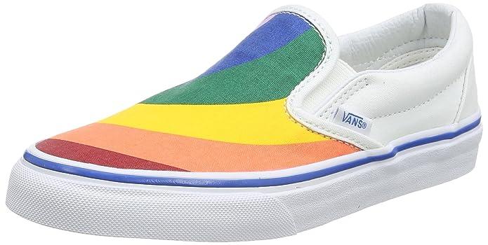 Vans Classic Slip-On Sneaker Damen Regenbogen Farben