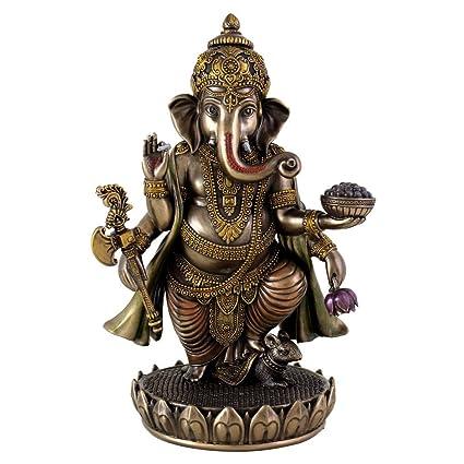 Standing Bronze Success Kitchen God amp; ganesha Elephant Real Top Remover Powder 7 Cast Home Ganesh 5
