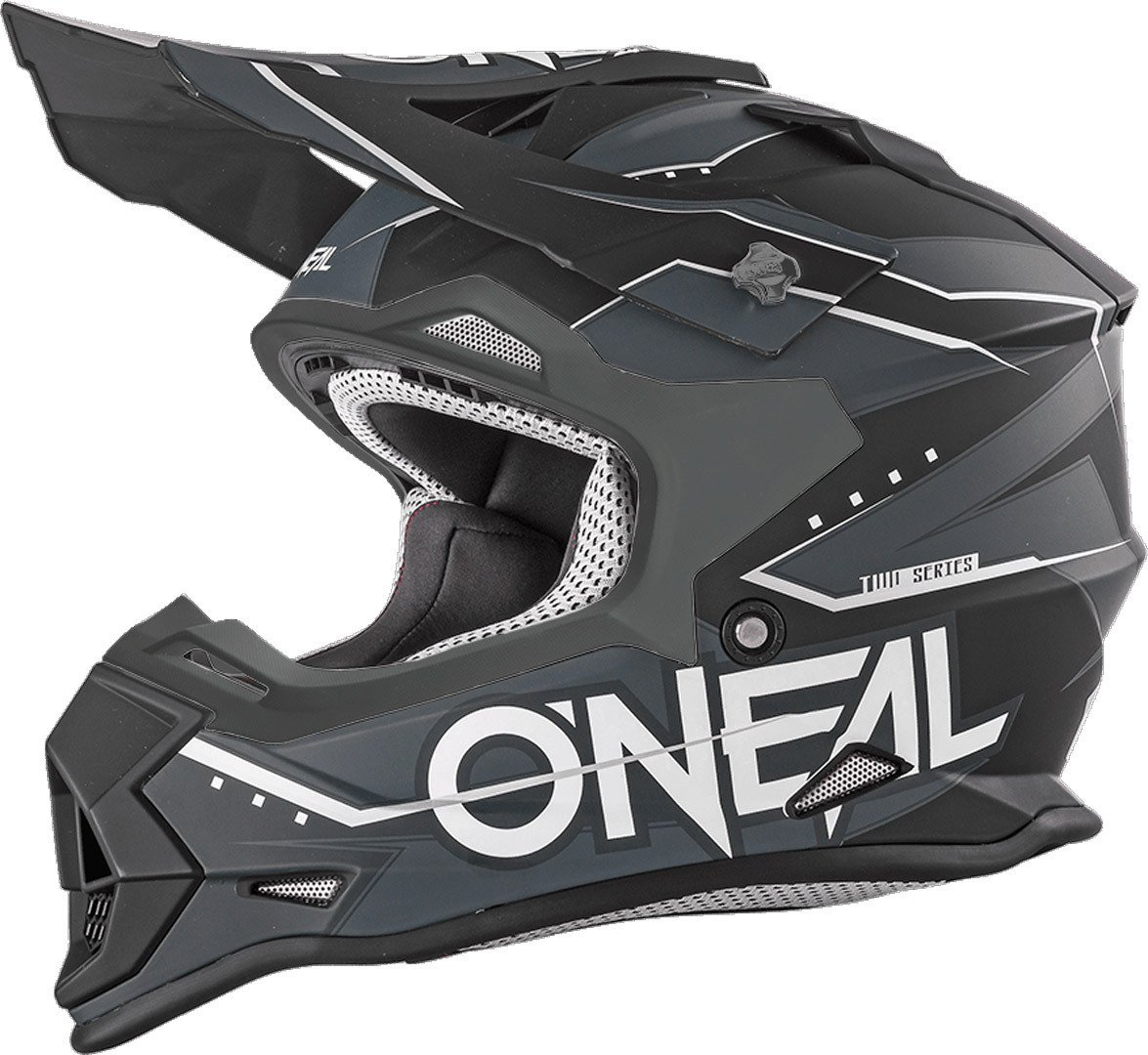 ONeal 2Series Bambini Casco MX Slingshot Schwarz Moto Cross Enduro Quad Fuoristrada DH 0200-86