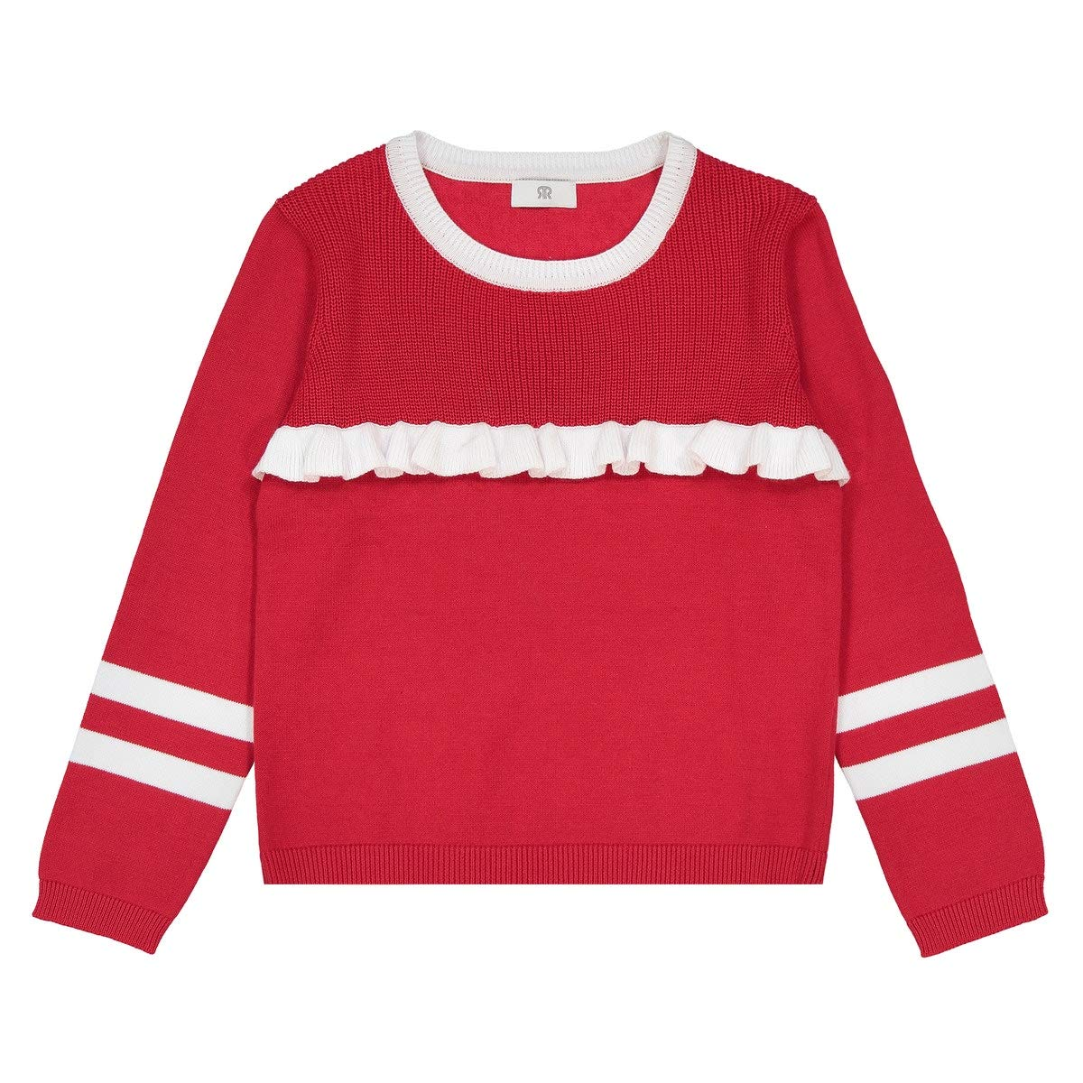 La Redoute Uniross Fine Gauge Knit Jumper//Sweater with Contrasting Ruffle 3-12 Years