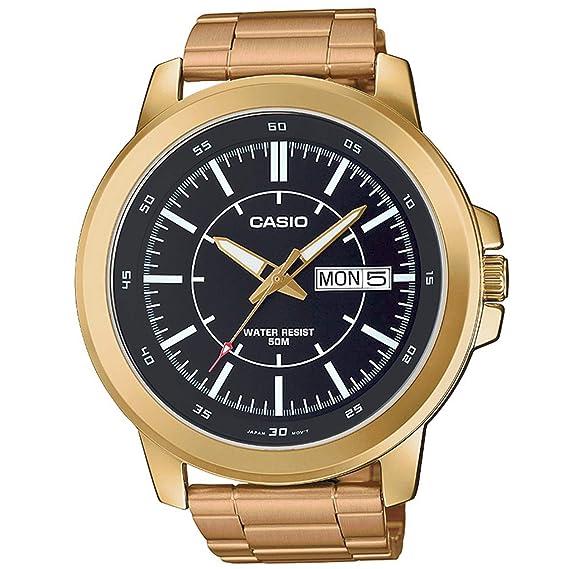 CASIO MTP-X100G-1E RELOJ HOMBRE ACERO INOXIDABLE DORADO: Amazon.es: Relojes