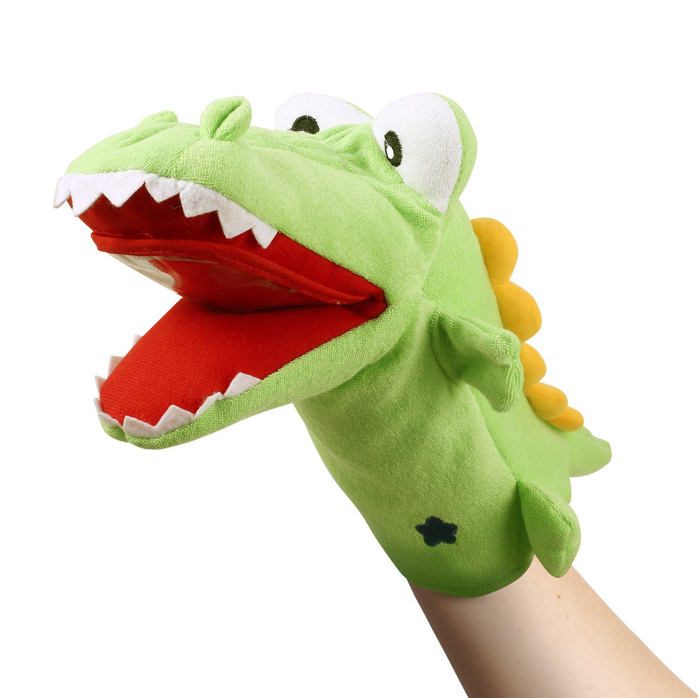 Smibie Marioneta de Mano de Felpa Suave Juguete de Muñeco Cocodrilo de 42cm Juego de Rol
