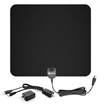 Sotek 50 Miles Range Amplified Indoor HDTV Antenna with Detachable Amplifier Booster USB Power Supply to