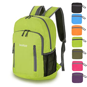 98c2966405d8 Bekahizar 20L Ultra Lightweight Backpack Foldable Hiking Daypack Water  Resistant Travel Day Bag Packable for Kids Men Women Outdoor Sports Camping  Day Trips ...
