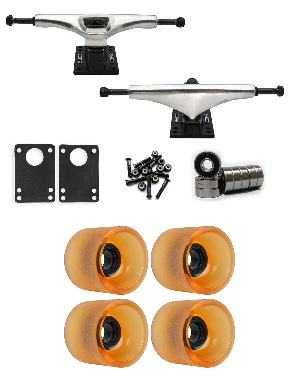 コア6.0 Longboard Trucksホイールパッケージ68 mm x 57 mm 78 a 144 Cオレンジクリア   B01IJ56GZU