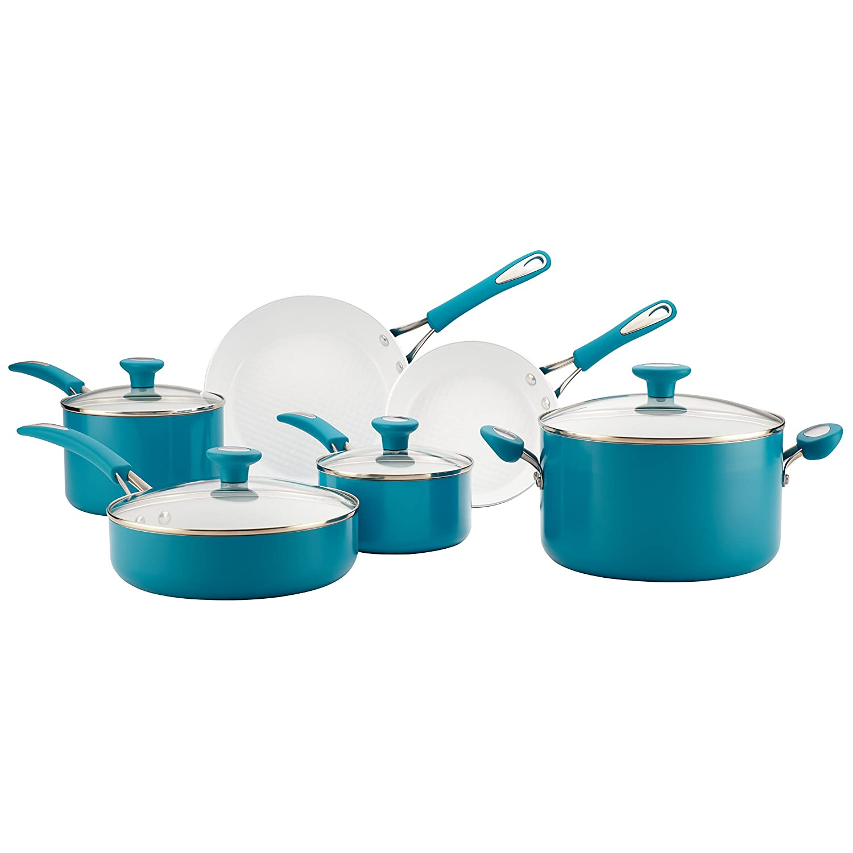 Amazon.com: SilverStone 12 Piece Ceramic Nonstick Aluminum Cookware ...