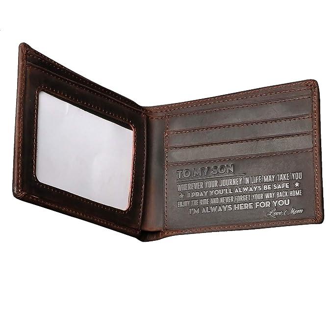 Amazon.com: Leathrr - Cartera de piel para hombre, diseño ...